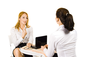 Receptionist in an Interview